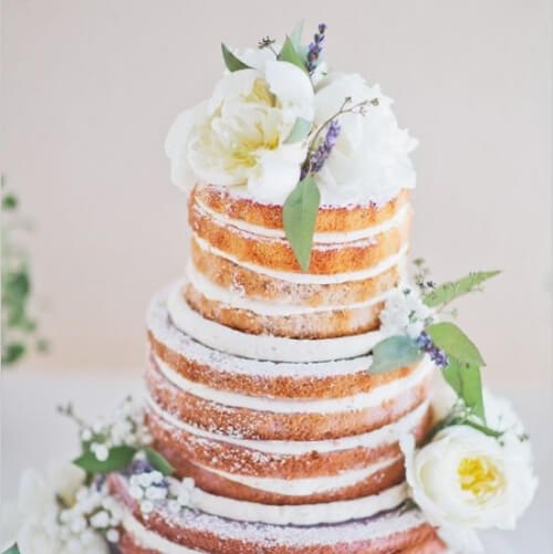 delicate naked cake